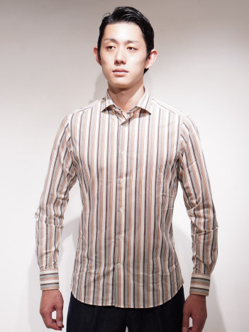 DESIGNWORKS (MEN'S) - TRAIANO TS15TF12 ストライプシャツ