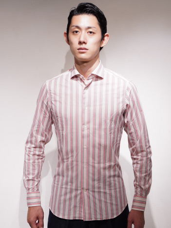 DESIGNWORKS (MEN'S) - TRAIANO TS15TF14 ストライプシャツ