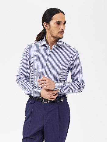 DESIGNWORKS (MEN'S) - BARBA MILANO/U07259 ロンドンストライプ セミワイドカラー シャツ