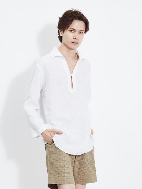 リネン カプリシャツ