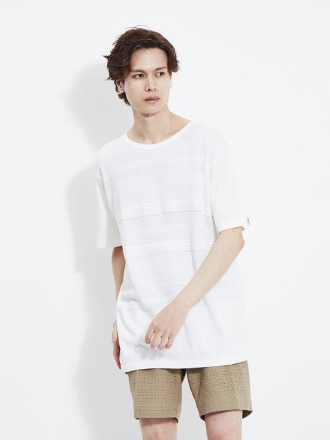 【G-STAGE】301509ニット切替Tシャツ