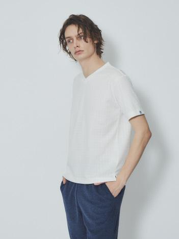 【G-STAGE】301510 Vネックジャガ-ドTシャツ