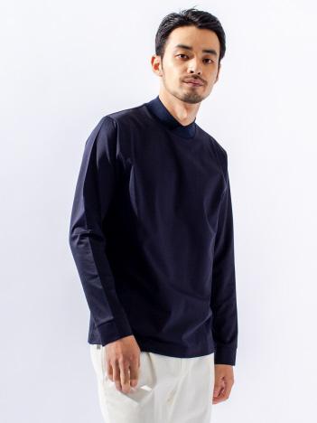 DESIGNWORKS (MEN'S) - T-400モクロディ 重ねモックネック 長袖Tシャツ