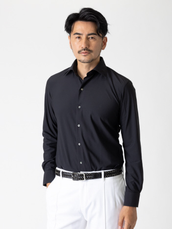 DESIGNWORKS (MEN'S) - トリコットミクロミクロビエントバックハーフ ドレスシャツ