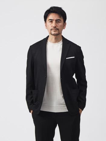 【WEB別注】カシミヤ混ウォッシャブルツィード ジャケット