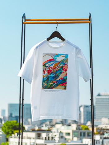 フランス風景デザイン プリント Tシャツ