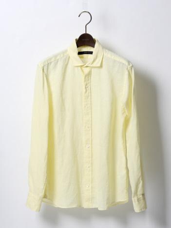 DESIGNWORKS (MEN'S) - リネンナチュラルストレッチ製品染めシャツ