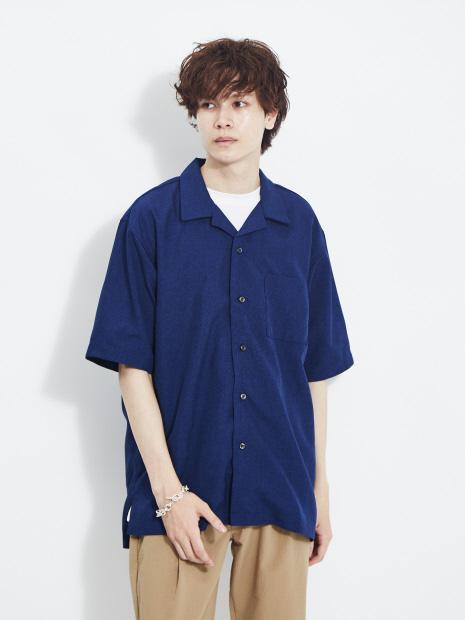 【ATELANE】20A-15002 トロピカル オープンカラーシャツ 半袖 シャツ