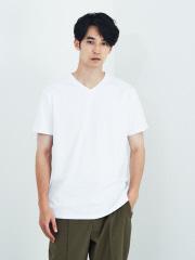 【de aete】DA-S02-0711 デアエテ オーセンティックフィットVネックTシャツ(Starバージョン)
