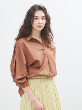 AT-SCELTA Select (Ladie's) - 【Mylanka】スキッパーネックオーバーシャツ