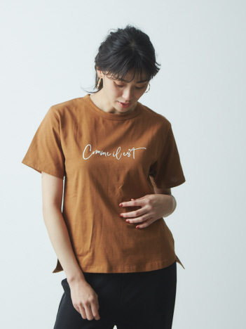 AT-SCELTA Select (Ladie's)	 - 【Mylanka】Comme il estロゴプリントTシャツ