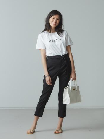 【Mylanka】DELICEロゴプリントTシャツ