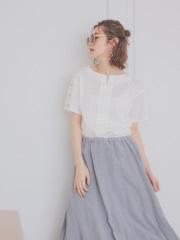【Mylanka】袖ボタンシルケットカットソー