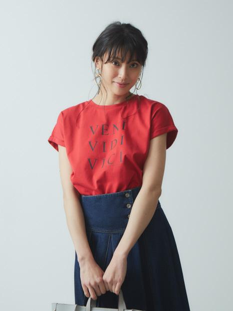【Mylanka】VENI ロゴプリントオーガニックTシャツ