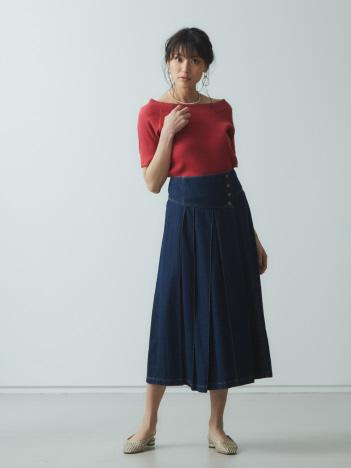 【Mylanka】ラップ風ロングスカート