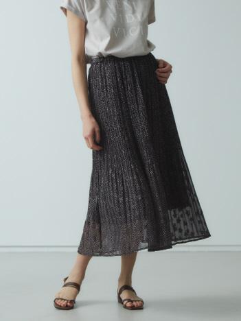 【Mylanka】スター刺繍×プリントナロースカート