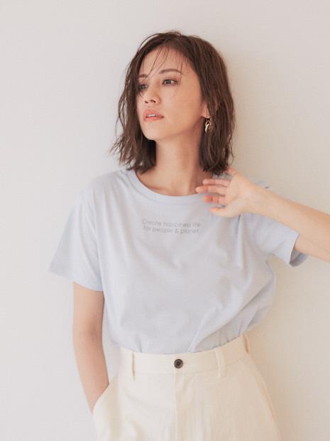 【BRAHMIN】ニュアンスカラーロゴTシャツ