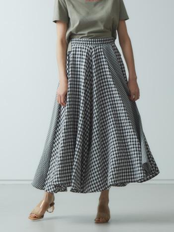 AT-SCELTA Select (Ladie's) - 【BRAHMIN】ギンガムチェックフレアスカート