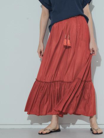 AT-SCELTA Select (Ladie's) - 【BRAHMIN】タッセル付きティアードスカート