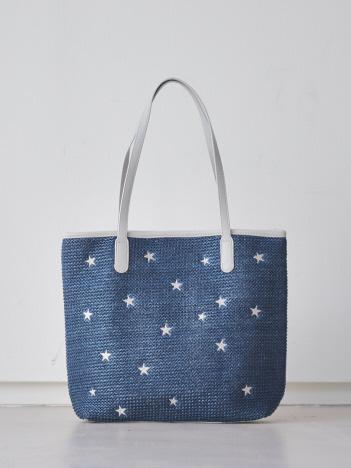 【mieux un】A4サイズ対応/スター刺繍トートバッグ