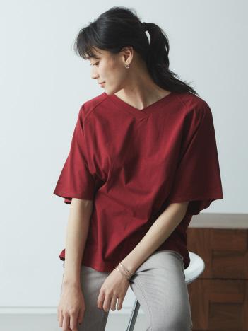 【JILKY】VネックラグランTシャツ