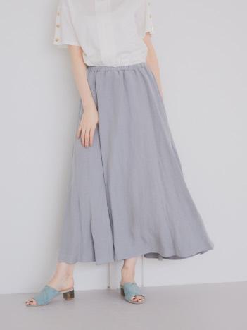 AT-SCELTA Select (Ladie's) - 【dolly-sean】リネンボリュームロングスカート【予約】