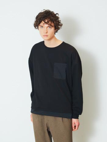 【ATELANE】20A-24055 裏毛裾絞れるクルーネック