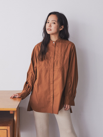 AT-SCELTA Select (Ladie's) - 【Mylanka】タック入りビックシルエットドレスシャツ