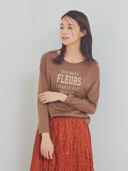 AT-SCELTA Select (Ladie's) - 【Mylanka】FLEURSロゴプリントロングTシャツ【予約】