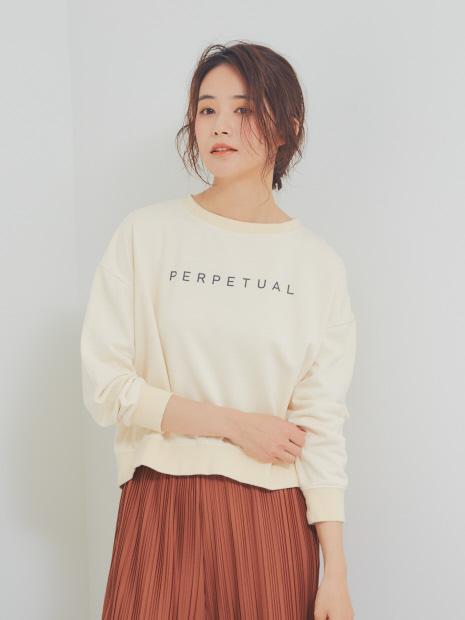 【BRAHMIN】PERTUALロゴプリントスウェット