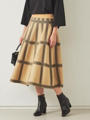 【BRAHMIN】チェック柄ジャガードニットスカート