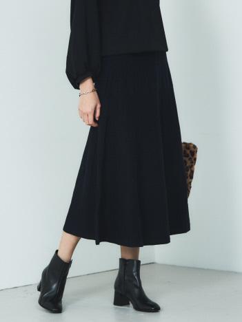 【BRAHMIN】セットアップ対応 ランダムリブニットスカート