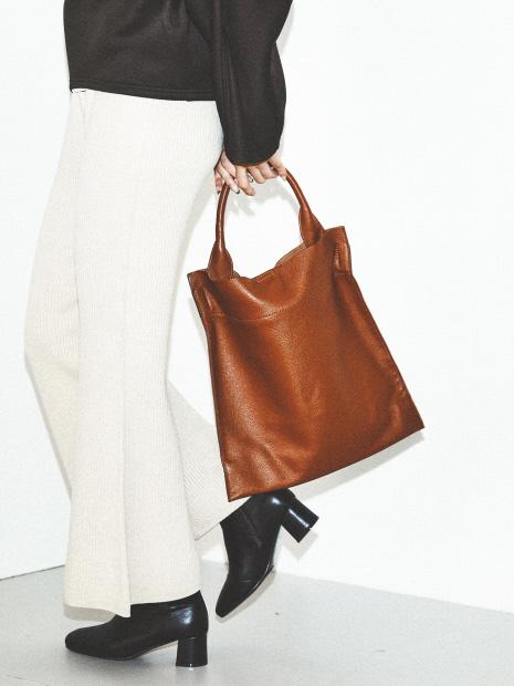 【BEAURE】カウレザーシンプルトートバッグ