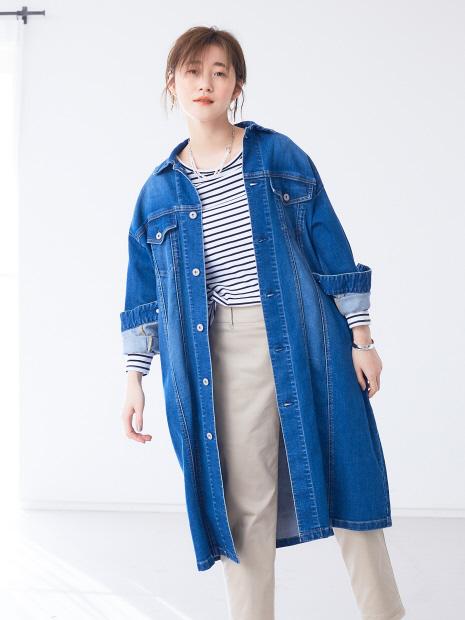 【Mylanka】ロングデニムジャケット