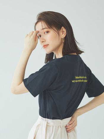 【Mylanka】バックロゴプリントTシャツ