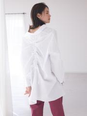 【BRAHMIN】バックギャザーシャツブラウス