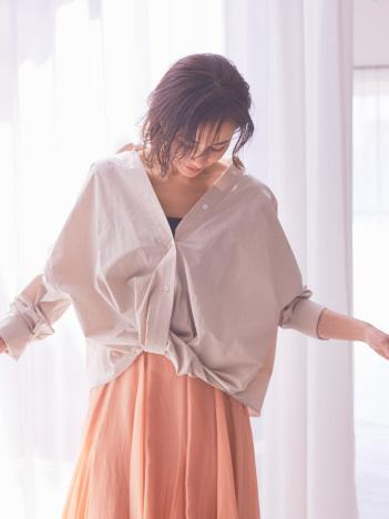 AT-SCELTA Select (Ladie's) - 【BRAHMIN】フロントカシュクールシャツブラウス【予約】