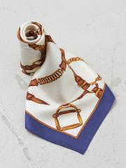 【9-22】シルクツイルベルト柄プチスカーフ