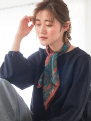 【9-22】シルクペルシャ柄スカーフ