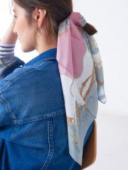 【9-22】シルクベルトペイズリー柄スカーフ