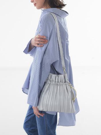 【Avancer】2way巾着型プリーツバッグ