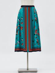 【USED / Rouge vif la cle】スカーフプリントスカート