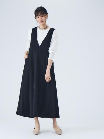 【Mylanka】ライトコーデュロイジャンパースカート