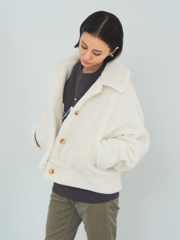 【Mylanka】ウールミックスボアジャケット