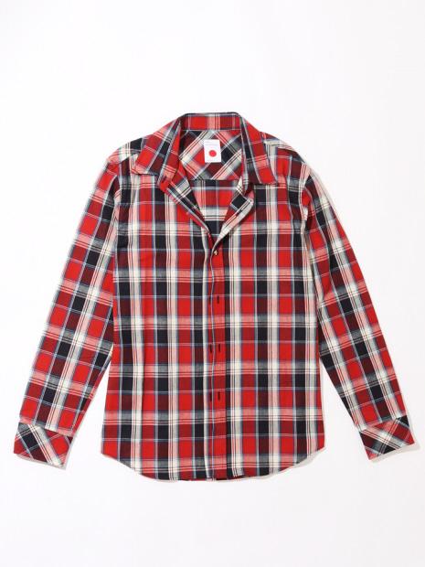 【MARKA×メンズジョーカー】ワイヤーチェックシャツ