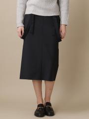 36 Quatre-Neuf - ウーステッドボンディングスカート