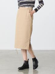 キャンバスレースアップスカート