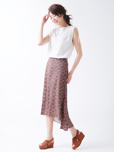 Plantica×Abahouse Devinette別注プリントスカート