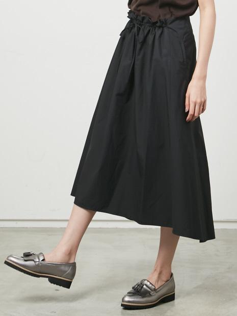 フロントギャザーAラインスカート