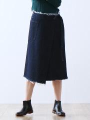 ウォッシュデニムスカート